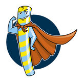 Super Candy character. Illustration of a Super Candy mascot Stock Photography