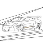 Super car coloring page Stock Photo