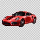 Super car design concept. Unique modern realistic art. Generic luxury automobile. Red Car presentation side view. Vector 3D illust vector illustration