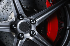 Super car disc brake Stock Photos