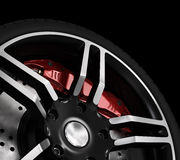 Super car disc-brake. Royalty Free Stock Photography