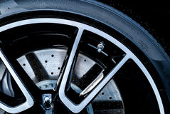 Super car disc-brake. Super car disc brake tires Stock Photo