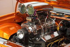 Super car engine. Photographed of a modified engine Royalty Free Stock Photography