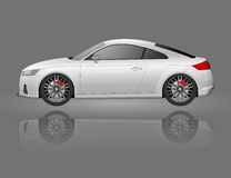 Super car realistic art side view. Generic automobile. Stock Photo