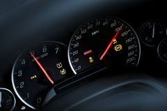 Super Car Tachometer Dash Stock Photos