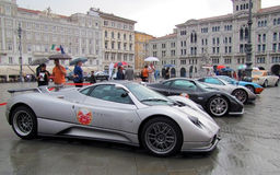 Super cars international rally Royalty Free Stock Images