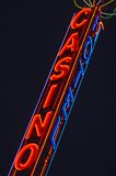 Super Casino. Brightly lit Neon Casino sign royalty free stock image
