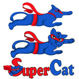 Super cat blue Royalty Free Stock Photos