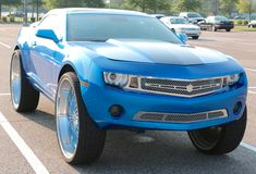 Super Chevy On Big Wheels Royalty Free Stock Photography
