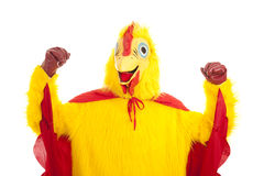Super Chicken - Show of Strength Royalty Free Stock Photo