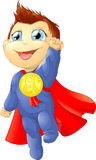 The super child. In a red raincoat Royalty Free Stock Photos