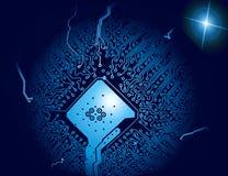 Super chip. Illustration, communication, technology royalty free illustration