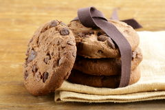 Super chocolate chip cookies Royalty Free Stock Images