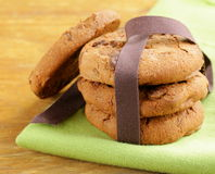 Super chocolate chip cookies Stock Images