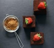 Super chocolate truffle cake Stock Photography