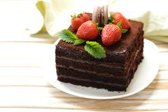 Super chocolate truffle cake Royalty Free Stock Photography
