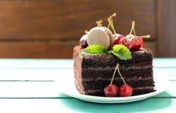 Super chocolate truffle cake Royalty Free Stock Image