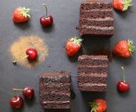 Super chocolate truffle cake Royalty Free Stock Photo