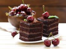 Super chocolate truffle cake Royalty Free Stock Photography
