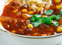 Super Chorizo Chili Bowls Royalty Free Stock Images