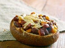 Super Chorizo Chili puchary Zdjęcie Royalty Free
