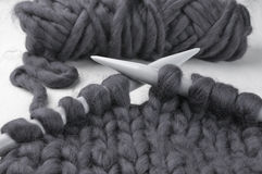 Super chunky knitting Royalty Free Stock Images
