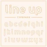 Super cienki konturu pokazu typeface Obraz Stock