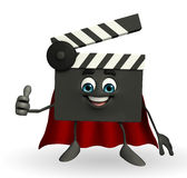 Super Clapper Board Character with best sign Royalty Free Stock Images