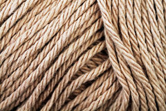 Beige Yarn Texture Close Up Royalty Free Stock Photos