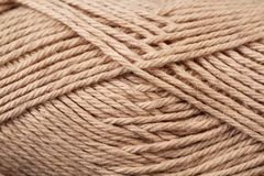 Brown Yarn Texture Close Up Royalty Free Stock Photos