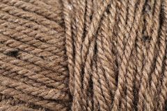 Brown Yarn Texture Close Up Royalty Free Stock Photography