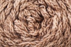 Brown Yarn Texture Close Up Royalty Free Stock Images