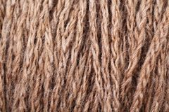 Brown Yarn Texture Close Up Stock Image