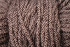 Chocolate Brown Yarn Texture Close Up Stock Photo