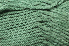 Emerald Yarn Texture Close Up Royalty Free Stock Photography