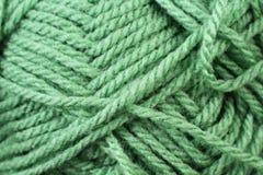Emerald Yarn Texture Close Up Royalty Free Stock Photo
