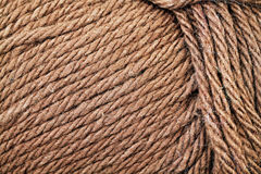 Khaki Yarn Texture Close Up. A super close up image of khaki yarn Stock Photos