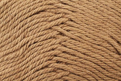 Umber Yarn Texture Close Up Royalty Free Stock Image