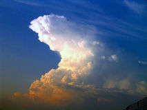 Super cloud. Sunset and above Royalty Free Stock Photos