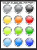 Super color bubbles Royalty Free Stock Photos