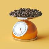 Super color concept for advertisement coffe shop ( orange backgr Royalty Free Stock Images