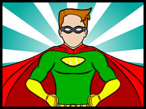 Super Confidence. A cartoon illustration of a confidence Superhero Royalty Free Stock Photography