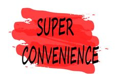 Super convenience banner. Super convenience red banner royalty free illustration