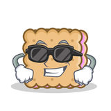 Super cool biscuit cartoon character style Royalty Free Stock Photos