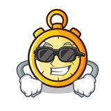 Super cool chronometer character cartoon style Royalty Free Stock Photos
