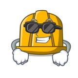 Super cool construction helmet character cartoon royalty free illustration