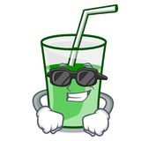 Super cool green smoothie character cartoon. Vector illustration vector illustration