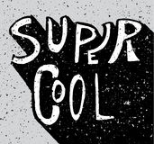 Super cool noisy grunge lettering Royalty Free Stock Image