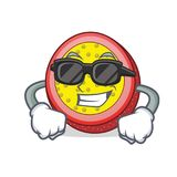 Super cool passion fruit character cartoon. Vector illustration Stock Photography