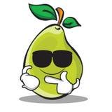 Super cool pear character cartoon. Vector illustration Royalty Free Stock Photos
